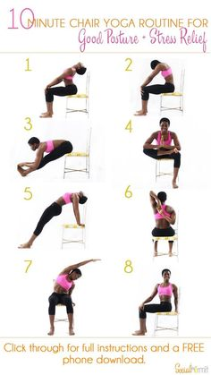 DownDog Yoga Poses for Fun & Fitness: 10 Minute Chair Yoga Routine
