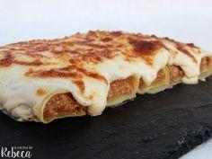 Meat Recipes, Pasta Recipes, Cooking Recipes, Recipies, Mini Foods, Empanadas, I Love Food, Lasagna, Food Porn