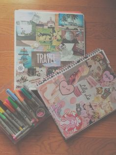 Inspiring Notebooks | DIY Tumblr Inspired School Supplies for Teens that will…