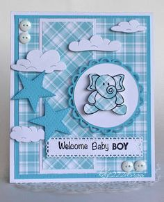 Beyond Beauty: Welcome Baby Boy - Baby Boy Baby Boy Cards Handmade, New Baby Cards, Baby Boy Gifts, Handmade Cards, Big Shot, Welcome Baby Boys, Baby Boy Scrapbook, Baby Keepsake, Baby Shower Cards