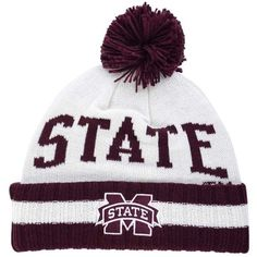 adidas Mississippi State Bulldogs Hardwood Classics Knit Hat ($24) ❤ liked on Polyvore featuring men's fashion, men's accessories, men's hats, cream and mens knit hats