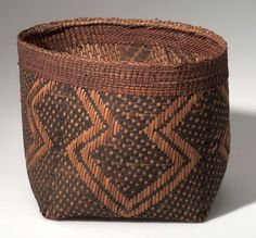 Africa   Basket from the Mangbetu people of Niangara, DR Congo   Plant Fiber and wood   ca. 1915
