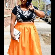 Eloquii Studio Midi Skirts As seen on popular plus size fashion bloggers! Great for work and play. Can sell as bundle or individually. The yellow (citron) skirt is NWT and is selling for $50 The pink and orange are gently loved and going for $45 each. All colors are sold out online and retailed for $90. Let me know which skirt, or skirts, you are interested in and I will create a separate listing. No trades, open to offers on the individual skirts. Eloquii Skirts Midi