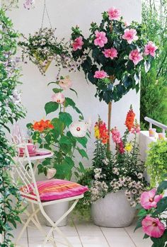 cute colorful balcony