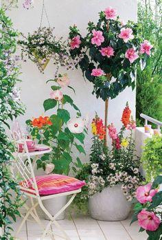 cute colorful balcony