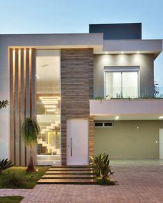 Best Modern House Design, Modern Exterior House Designs, Minimalist House Design, Dream House Exterior, Modern Home Exteriors, Exterior Wall Design, House Outside Design, House Front Design, Small House Design
