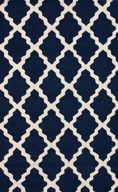 RugStudio presents Nuloom Contempo Modern Trelllis Navy Blue Hand-Hooked Area Rug Coastal Curtains, Coastal Rugs, Coastal Bedding, Coastal Homes, Coastal Decor, Coastal Farmhouse, Coastal Lighting, Modern Coastal, Coastal Style