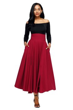 Cheap long maxi skirt, Buy Quality maxi skirt directly from China skirt vintage Suppliers: Adogirl 2017 Autumn Winter Women Skirt vintage Retro 5 Colors High Waist Pleated Belted Long Maxi Skirt Back Bow Tie S-XXL Long Maxi Skirts, Pleated Midi Skirt, High Waisted Skirt, Waist Skirt, Denim Skirt, Sexy Skirt, Dress Skirt, Cheap Dresses Online, Flare Skirt