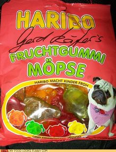 Pug Gummies, I so have to find these!