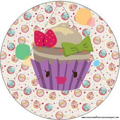 "It's amazing how some ppl just ""has it""! A complete DIY party kit! Diy Party Kits, Party Sweets, Cake Logo, Cupcake Wrappers, Wallpaper Backgrounds, Kawaii, Printables, Tableware, Birthday"