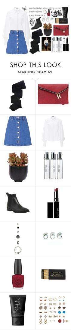 """""""I only know Alexa Chung by Alex Turner"""" by h3li ❤ liked on Polyvore featuring Gerbe, Henri Bendel, Miss Selfridge, Zac Posen, Lux-Art Silks, Byredo, Office, Witchery, OPI and Jayson Home"""