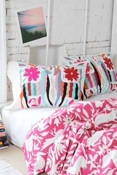 These shams are fun! With solid or white spread? reminds me of the pillows you gravitated towards @ target just a bit brighter  Magical Thinking Altiplano Sham - Set Of 2