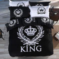 King Crown Print Unique Design  Duvet Cover Bedding Sets