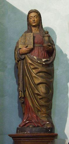 """Pietro Bussolo """"Maddalena"""" Legno policromo - XVIsec. Chiesa del Corpus Domini, Pagliaro (BG)"""