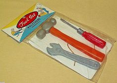 TOOL SET VINTAGE HONG KONG NOS POLYTHENE WRENCH BALL PEEN HAMMER SCREWDRIVER #Unbranded