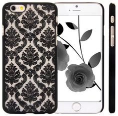 """iPhone 6 Case KINGCOOL(TM) Retro Flower Damask Design Slim Fit Case Cover for Apple iPhone 6 4.7""""(Black) Designed specially for Apple iPhone 6 4.7"""" Fashionable design makes your phone stand out! Slim, form-fitting and lightweight Provides great protection with easy installation Access to all controls, buttons and camera holes"""