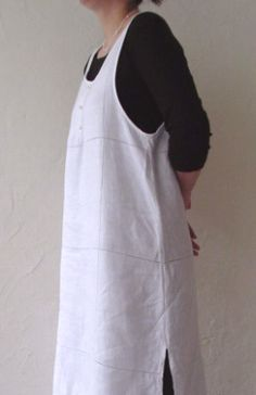 Side view of apron dress
