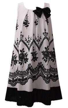 Bonnie Jean Ivory Flocked Trapeze Dress Girls Plus Ivory Dresses, Girls Dresses, Street Mode, White Dress Winter, Winter White, Best Party Dresses, Bonnie Jean, Embellished Dress, Sequin Dress