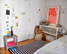 Small Space Lessons: Floorplan and Solutions from Stephanie's Best Year Yet Tiny Apartment Decorating, Decorating Small Spaces, Interior Decorating, Decorating Ideas, Basement Inspiration, Interior Design Inspiration, Tiny Studio Apartments, Entry Way Design, Studio Living