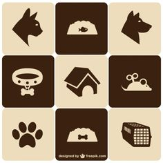 Retro style pet icons set - Freepik.com-Animals-pin-24 Pet Shop, Logo Animal, Dog Hotel, Dog Icon, Pet Boarding, Dog Branding, Animal Antics, Retro Stil, Style Retro