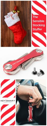 Give the gift of organization in a pocket-sized package with KeySmart! The perfect seasonal stocking stuffer. KeySmart keeps your keys in order and close at hand, without the hassle of an ordinary key ring. The sleek and slender design mimics a pocketknife for easy access and functionality. Pick one up for everyone on your holiday shopping list!
