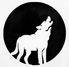 Full Wolf Moon Howling Silhouette Car Truck Window Vinyl Decal Sticker 12 COLORS #VinylDecalSticker
