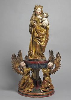 Virgin and Child Supported by Angels, 1510-1520. German. The Metropolitan Museum of Art, New York. The Cloisters Collection, 1963. (63.71a, b)