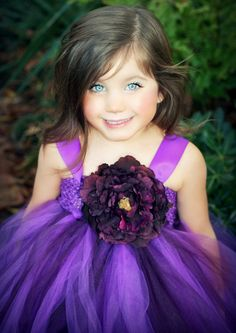 Flower Girl Tutu Dress in Decadently by TheLittlePeaBoutique, $99.00