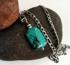 Men's Necklace Mens Turquoise Necklace by StefaniFixCollection