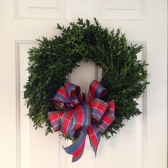 Real Boxwood Wreath Natural Boxwood Wreath by TwigsVinesNBrambles