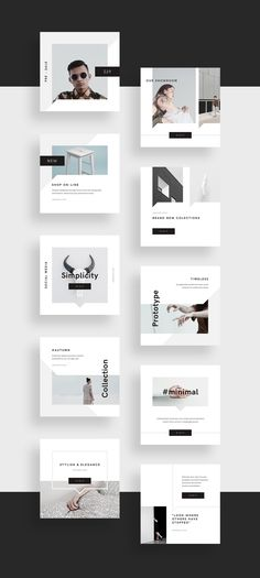 Minimalism is a visual concept that never goes out of style. Is it a modern way how showcase brand and communicate with audience. Introducing Minimal Social Media Pack for easy building your professional layouts ready to share with world.Pack includes l… Instagram Design, Ideas Fotos Instagram, Instagram Square, Web Banner Design, Layout Design, Social Media Branding, Social Media Graphics, Social Media Poster, Social Media Marketing Agency