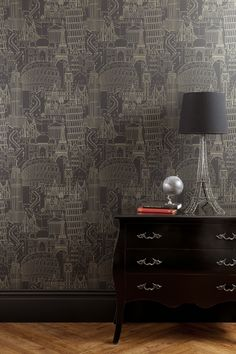 Globetrotter is a fun and quirky wallpaper with a hand drawn quality, interpreting famous land marks. A limitless design for both residential and commercial spaces. Quirky Wallpaper, Paris Wallpaper, Kids Wallpaper, Wallpaper Online, Black Wallpaper, Wall Wallpaper, Amazing Wallpaper, Studio Interior, Dark Walls