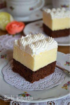 Barbi konyhája: Amerikai krémes ♥ Cold Desserts, Sweet Desserts, Easy Desserts, Delicious Desserts, Hungarian Desserts, Hungarian Recipes, Sweet Cookies, Cake Cookies, Sweets Recipes
