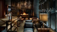 The Royalton New York has one of the sexier, moodier lobby lounges that we've seen. Put down your shopping bags, take a tufted leather chair and, with drink in hand, watch the comings and goings.
