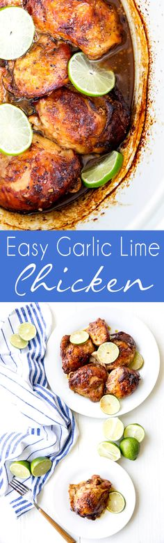 Crockpot Garlic Lime Chicken is easy delicious and healthy