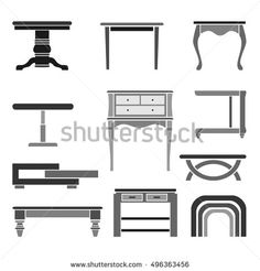 Various table icons