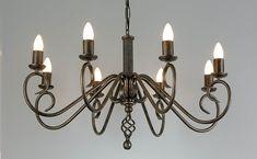 Verona wrought iron chandelier lights, Glasses not included. Wrought Iron Chandeliers, Verona, Ceiling Lights, Lighting, Room, Home Decor, Bedroom, Decoration Home, Room Decor