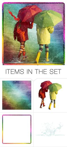 """Just a walking in the rain ..... Getting soak and wet"" by glitterlady4 ❤ liked on Polyvore featuring art"