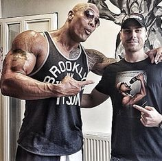 THE ROCK meeting fans in our Mike Tyson Brooklyn Tank - available online and at Urban Outfitters.