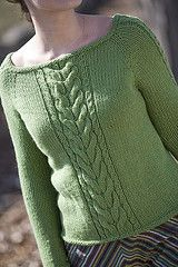 Ravelry: Duchess Center Cable Pullover pattern by Kate Gilbert