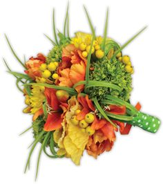 Yellow, Orange, & Green Bouquet by @Crafts Direct