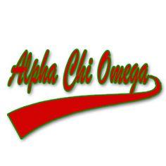 Alpha Chi Omega - classic tail t-shirt