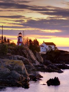 New Brunswick, Campobello Island, East Quoddy Lighthouse, Canada Photographic Print by Alan Copson East Coast Travel, East Coast Road Trip, Places To Travel, Places To Visit, Travel Destinations, Ontario, New Brunswick Canada, Foto Top, Voyager Loin