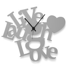 Wall Clock LIVE LAUGH LOVE by Wandkings
