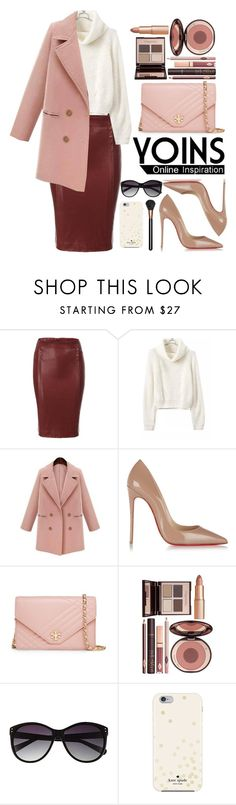 """Yoins.com"" by oshint ❤ liked on Polyvore featuring Christian Louboutin, Tory Burch, Charlotte Tilbury, Vince Camuto, Kate Spade, MAC Cosmetics and yoins"