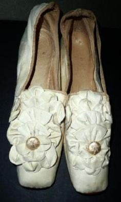 Victorian Civil War Bridal Slipper-I think about who wore these, and what they were like...