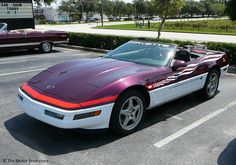 1995 Corvette Indy Pace Car. 3/4 front left side view. Hooters and Hot Rods Cruise In. Sanford, FL. June 10, 2012. Photo by Luis » The Motor Bookstore, www.themotorbookstore.com