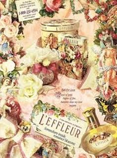 Vintage Perfume ad- L' Effleur by Coty (I only enlarged) have this perfume and about  6 empty boxes as in photo luv this so vintage looking