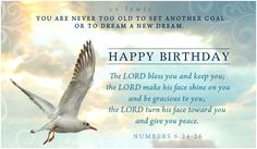 You are never too old to set another goal or to dream a new dream.  CS Lewis  Happy Birthday card