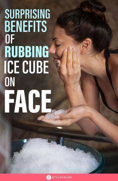 Ice On Face, Ice Cubes For Face, Beauty Care, Beauty Skin, Health And Beauty, Beauty Hacks, Beauty Tips, Skin Tips, Skin Care Tips